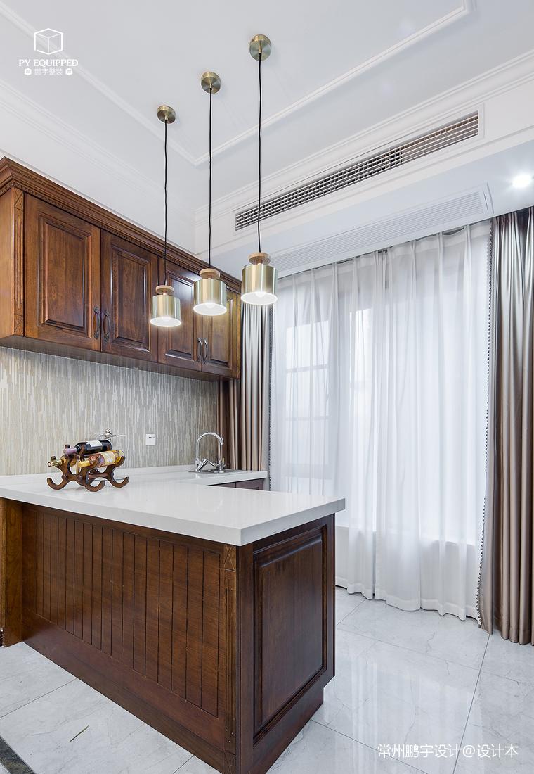 201952平美式复式厨房图片大全