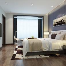 热门面积91平简约三居卧室装修实景图片大全