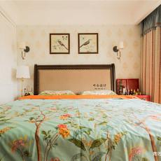 2018精选面积98平美式三居卧室装修实景图片