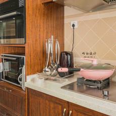2018精选92平米三居厨房美式效果图