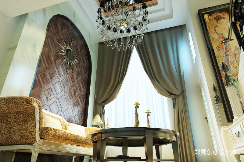 热门面积76平欧式二居客厅装修欣赏图片大全