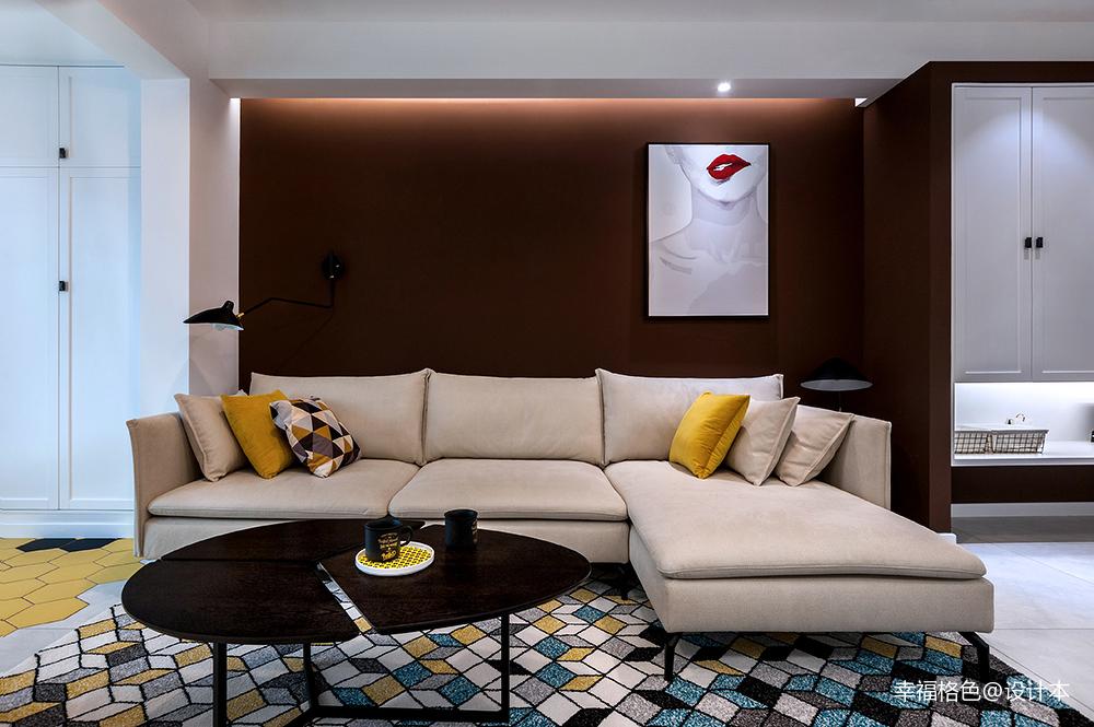 明亮64平北欧二居客厅装修效果图