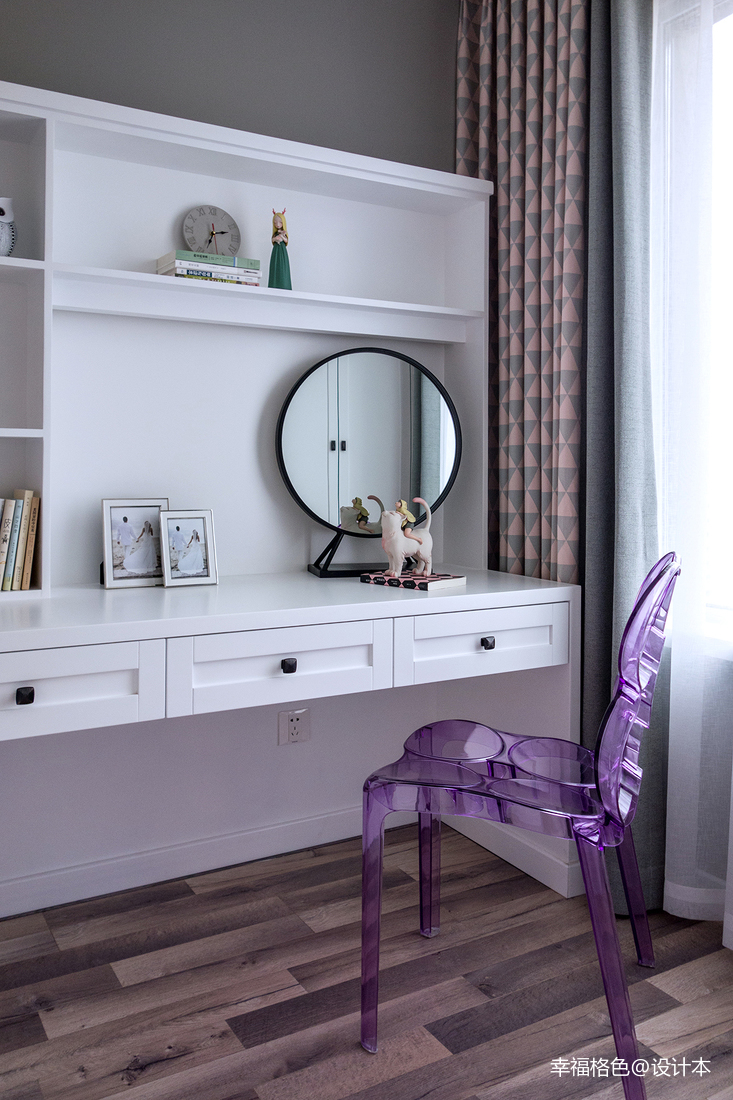 优雅72平北欧二居卧室实景图片