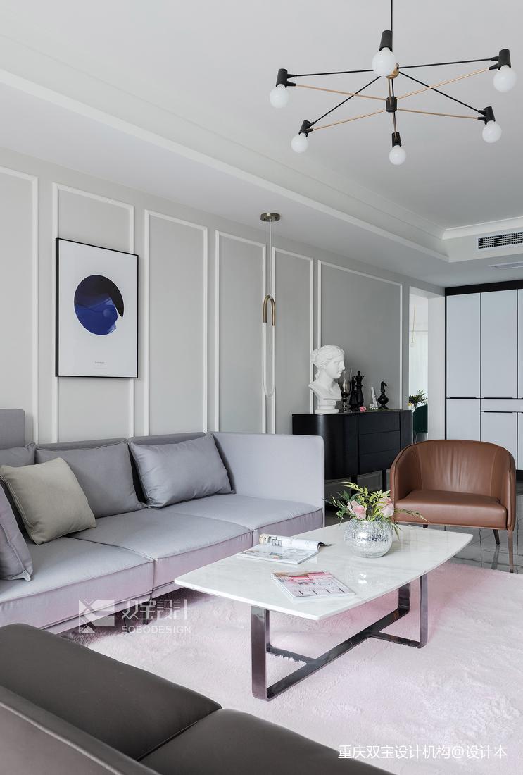 大气52平法式二居客厅设计图