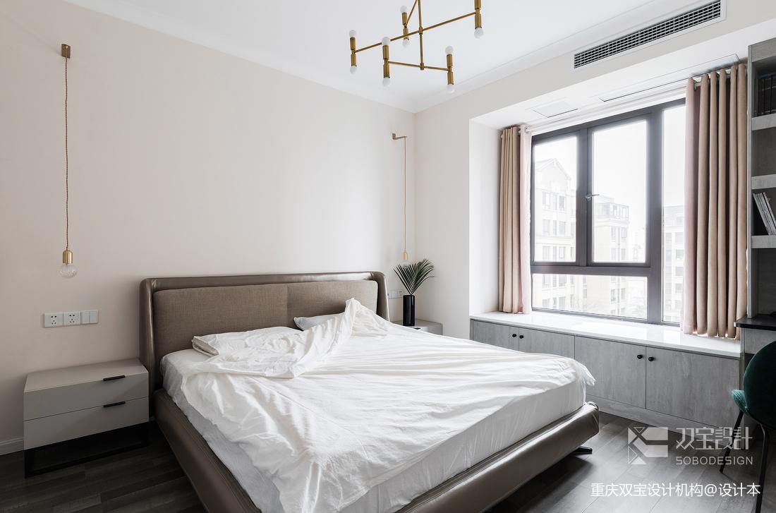 温馨54平法式二居卧室装饰图片