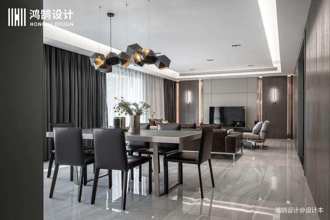 明亮76平现代三居餐厅案例图