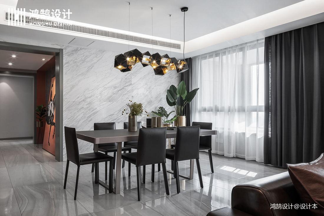 优雅95平现代三居餐厅装修案例