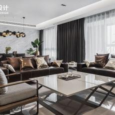 质朴77平现代三居客厅装修效果图