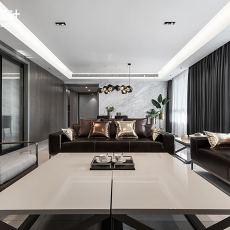简洁96平现代三居客厅装修图