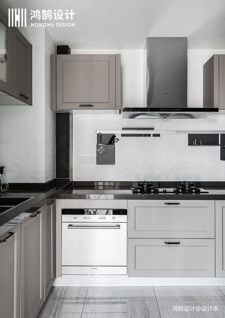 简洁81平现代三居厨房装修设计图