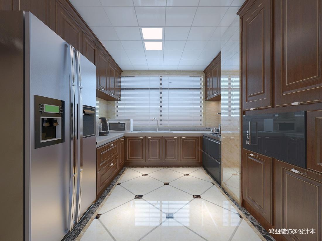 2018面积112平新古典四居厨房装修设计效果图片