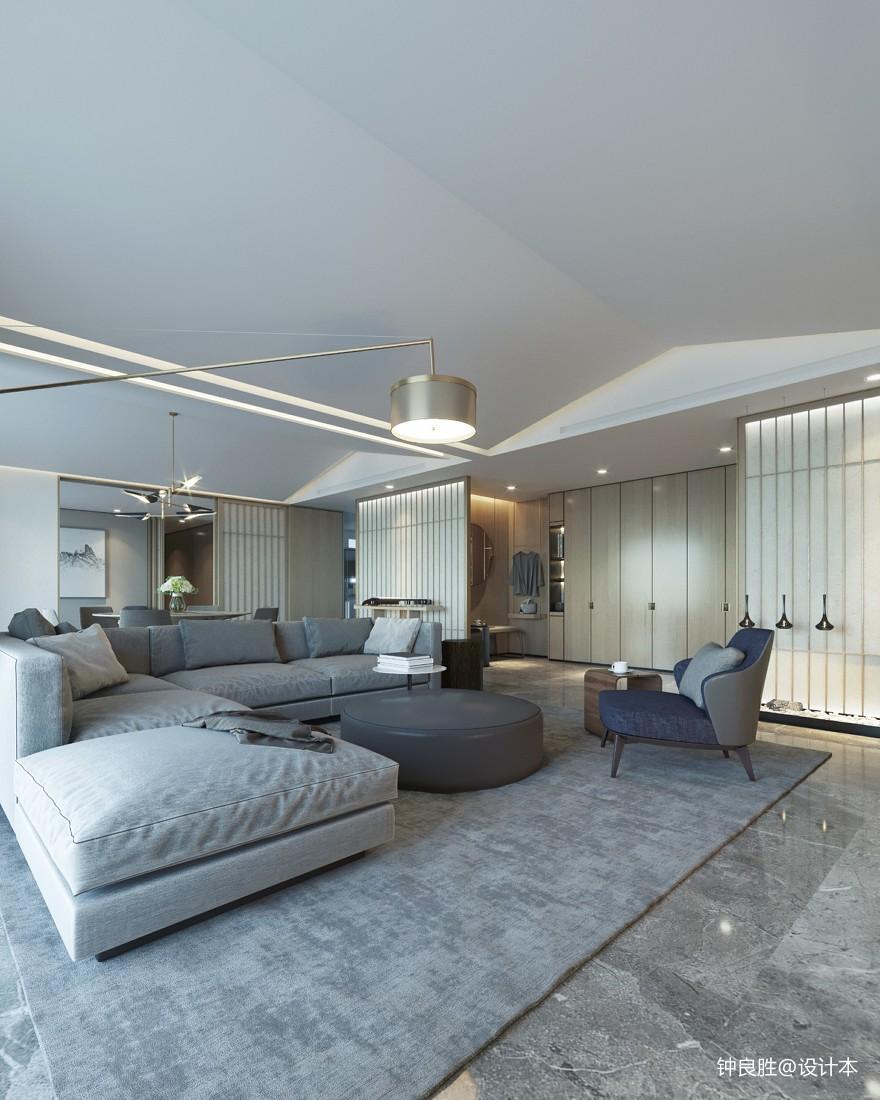 2018精选面积110平日式四居客厅装修效果图片