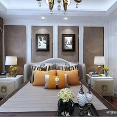 精美98平米三居卧室美式欣赏图片