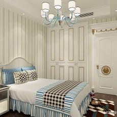 102平米三居卧室美式实景图片大全
