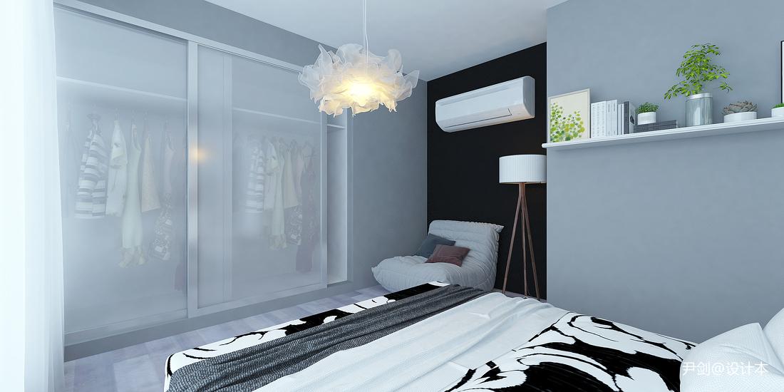 精美81平米现代小户型卧室装修实景图片欣赏