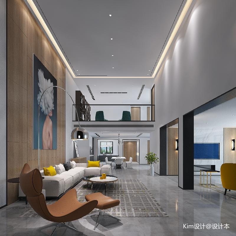 华丽400平混搭别墅客厅设计效果图