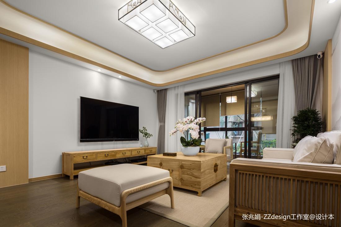 优美120平中式四居客厅设计图