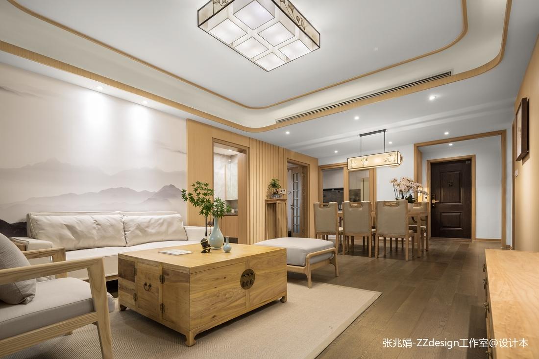 简洁160平中式四居客厅布置图