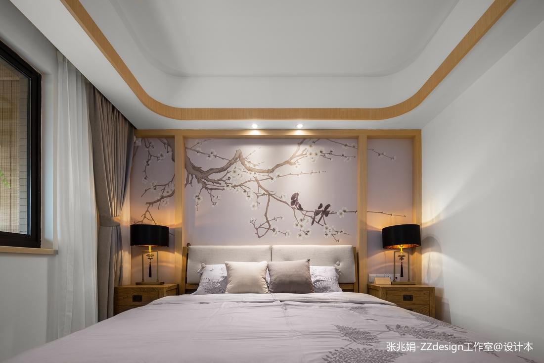 典雅110平中式四居卧室设计案例