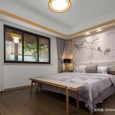 优雅98平中式四居卧室装修图片