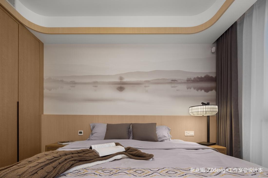 浪漫127平中式四居卧室装修设计图