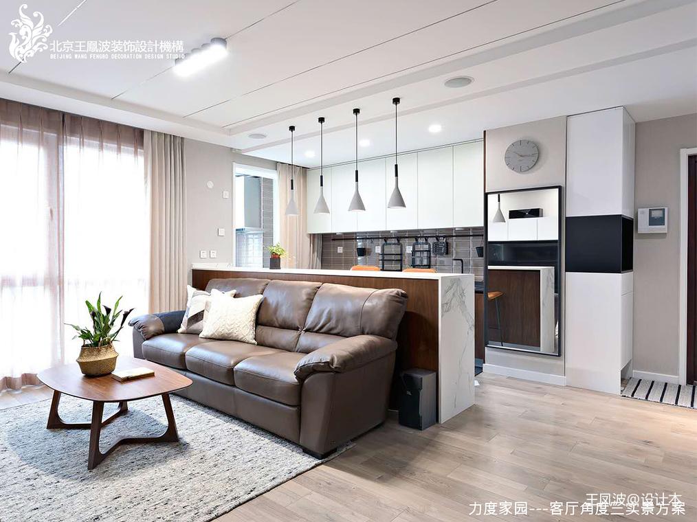 华丽35平现代小户型客厅效果图片大全