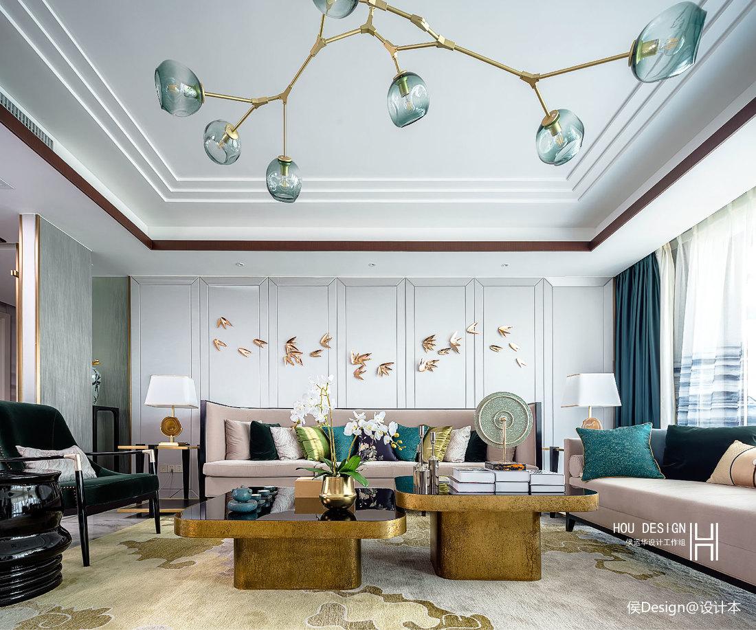 优美350平中式四居客厅美图