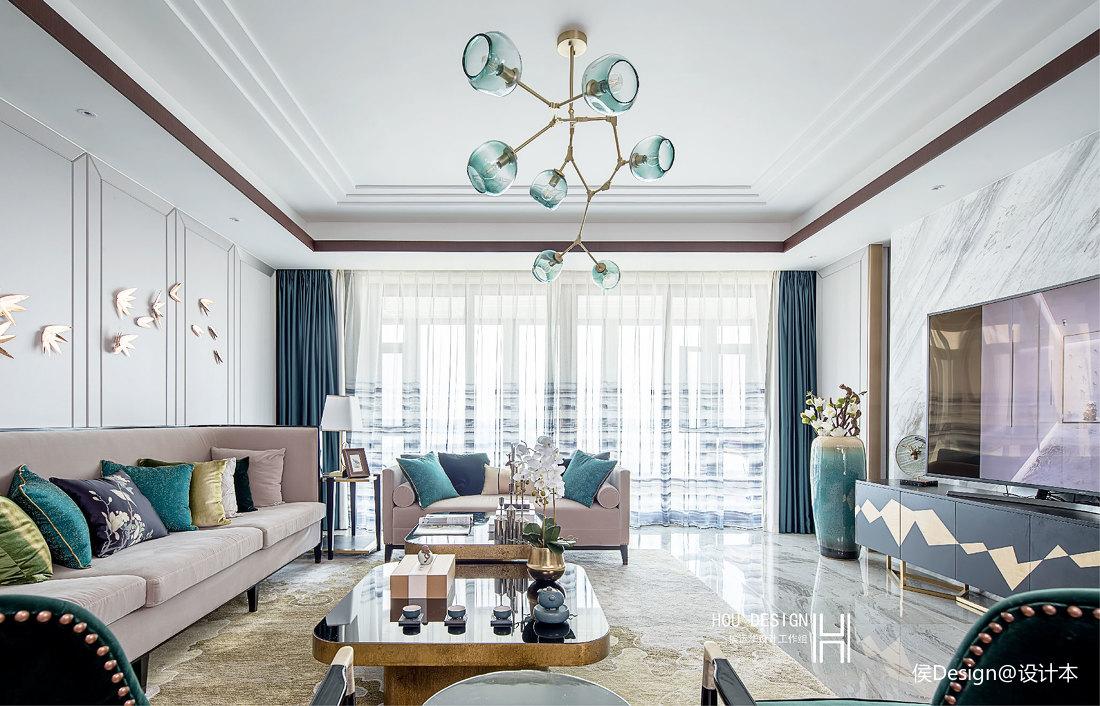 优雅149平中式四居客厅设计美图