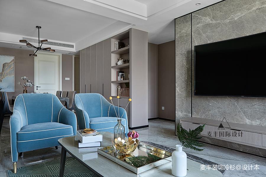 典雅130平现代三居客厅装修案例