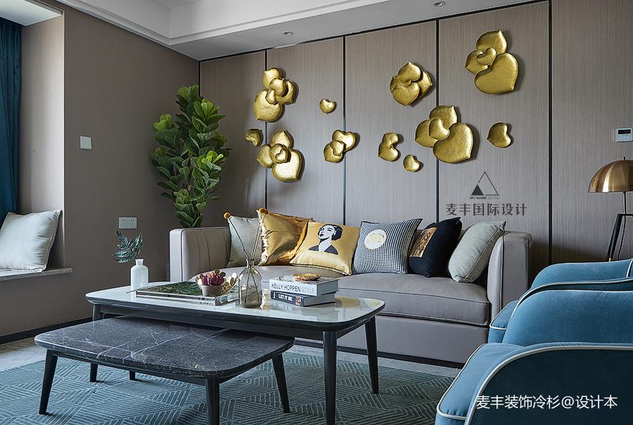 简洁76平现代三居客厅效果图欣赏