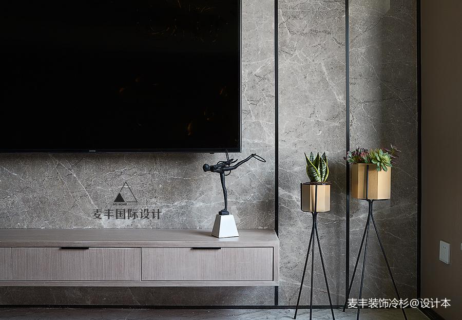 质朴80平现代三居客厅装修案例