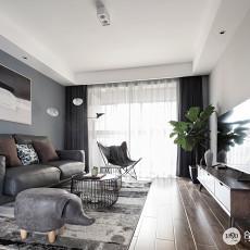 华丽85平现代三居客厅装修效果图