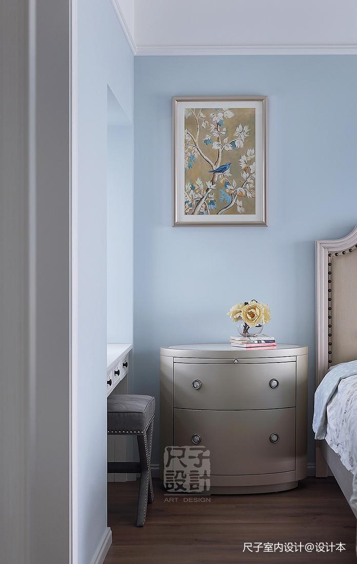 138㎡优雅简美风卧室储物柜设计图
