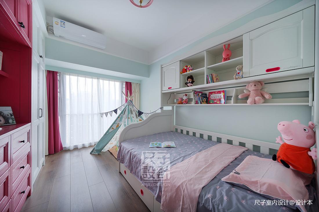 138㎡优雅简美风儿童房设计图