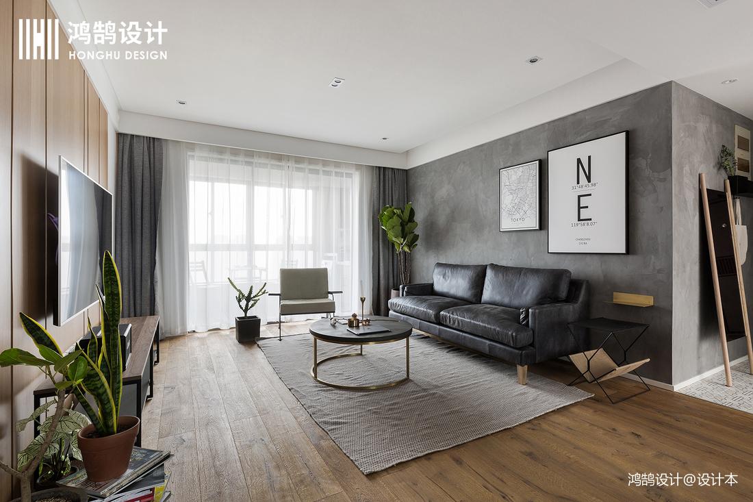 优雅122平北欧三居客厅设计美图