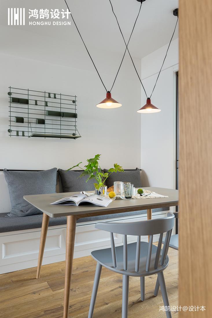 悠雅72平北欧三居餐厅设计图