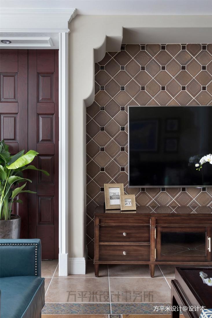 精美131平美式四居客厅装修案例