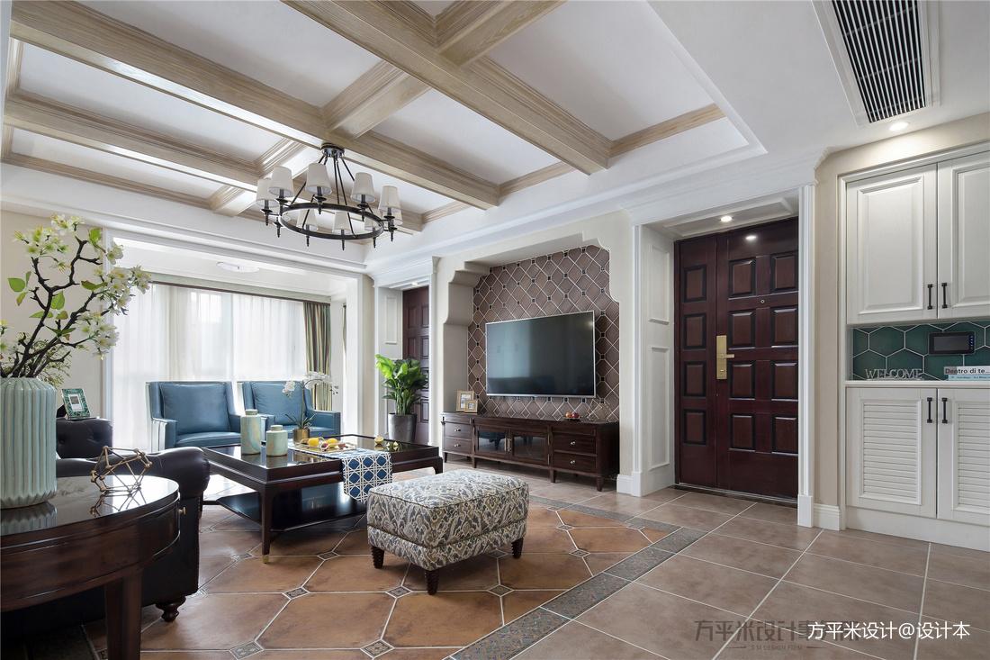 优雅180平美式四居客厅效果图片大全
