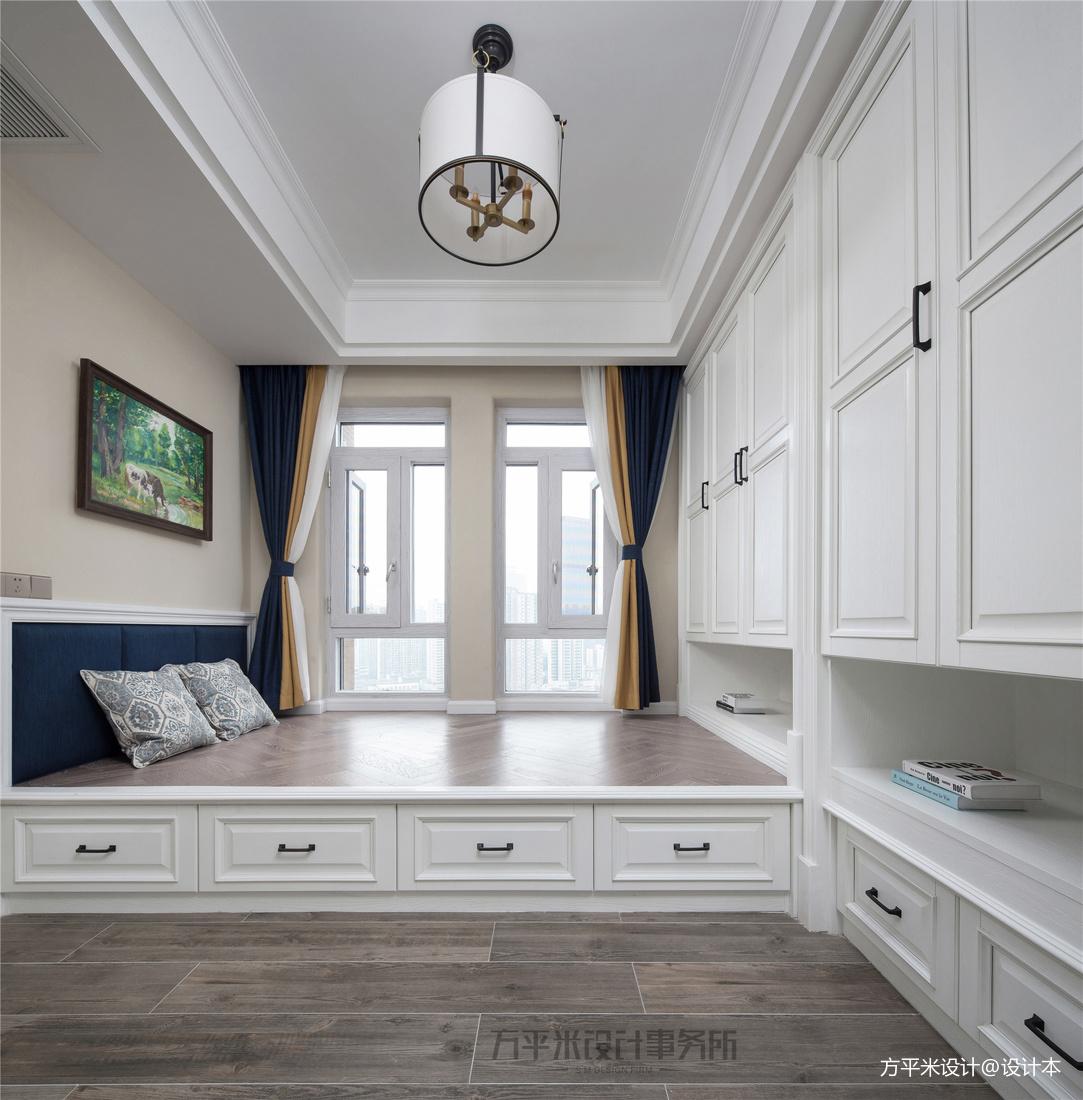 轻奢93平美式四居休闲区设计效果图