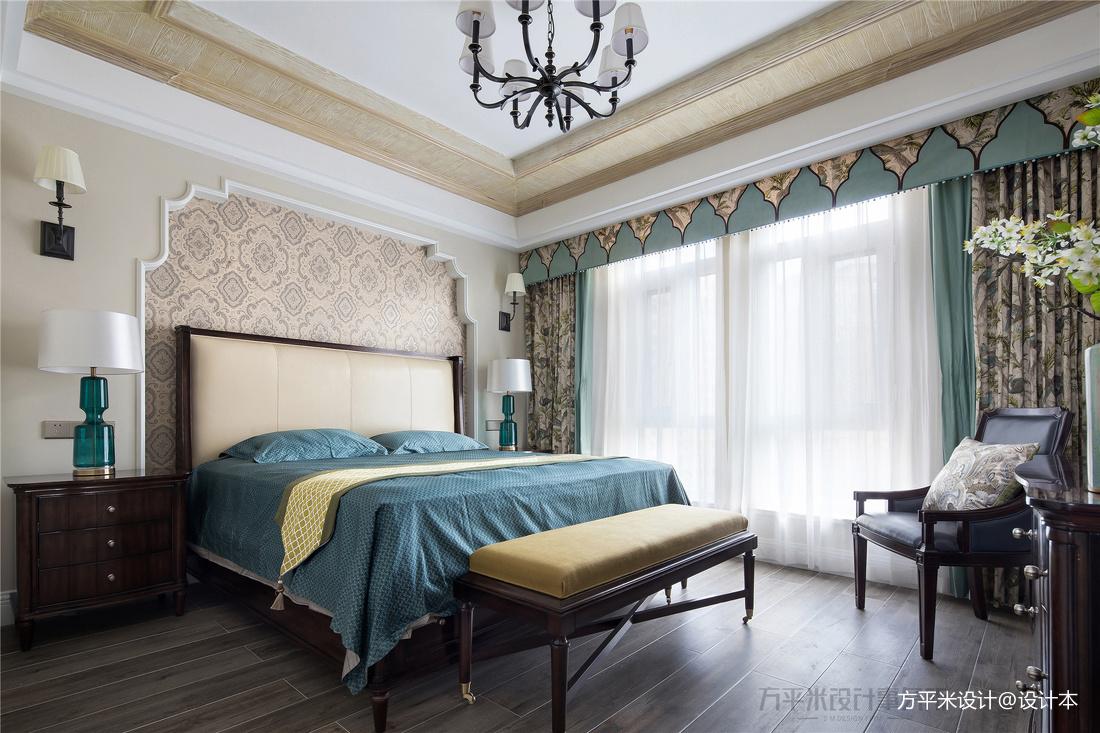 简洁143平美式四居卧室装修装饰图