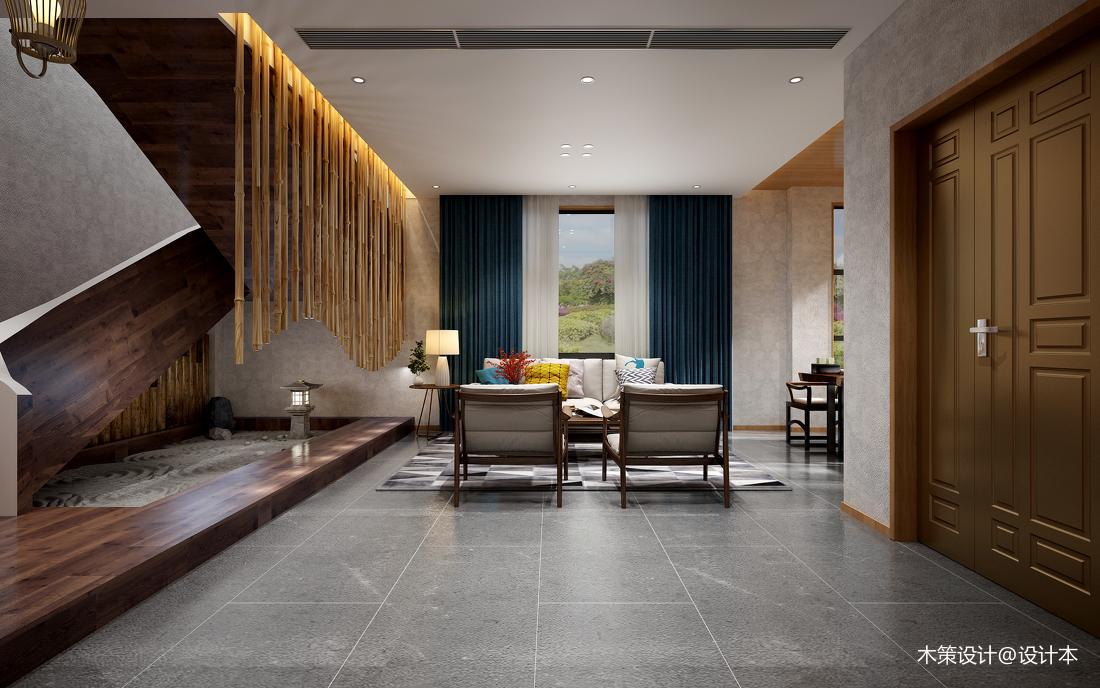 精選面積129平復式客廳中式欣賞圖片