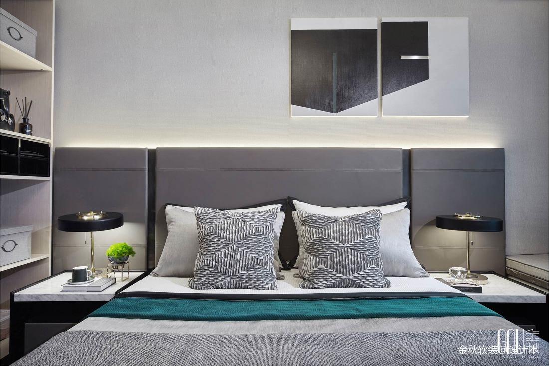 东莞万科翡翠松湖样板房卧室背景墙设计图