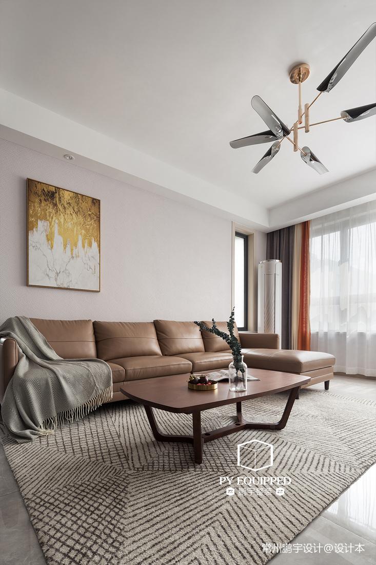 浪漫118平现代三居客厅实景图片