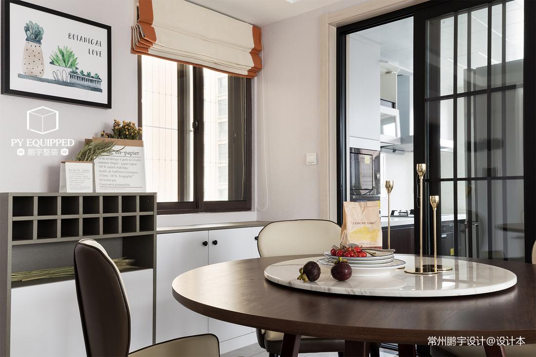 华丽90平现代三居餐厅装修装饰图