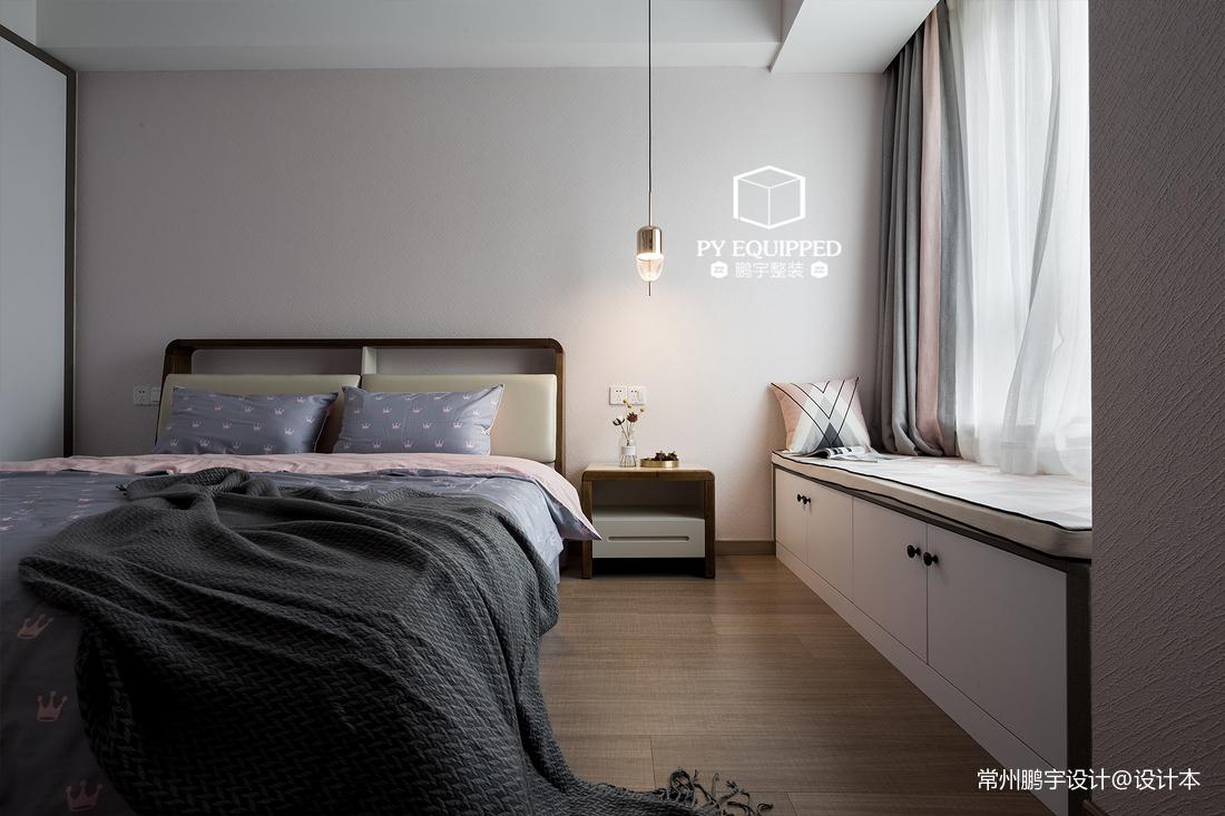 典雅91平现代三居卧室设计图