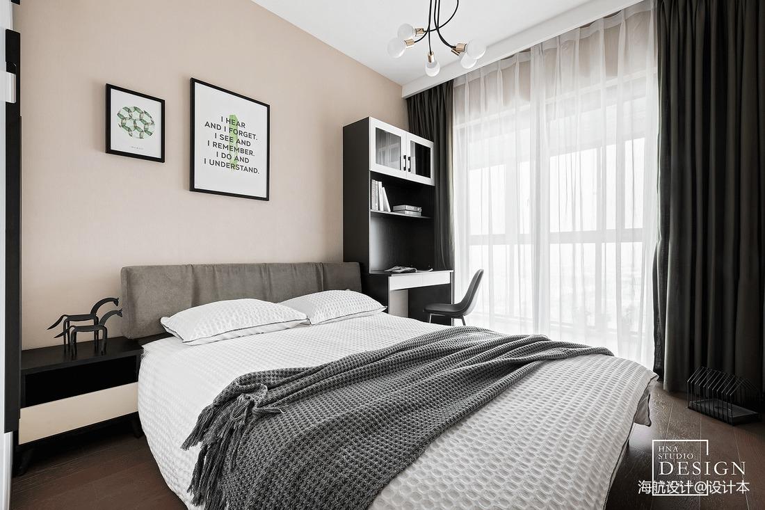 热门101平方三居卧室现代装修设计效果图片欣赏
