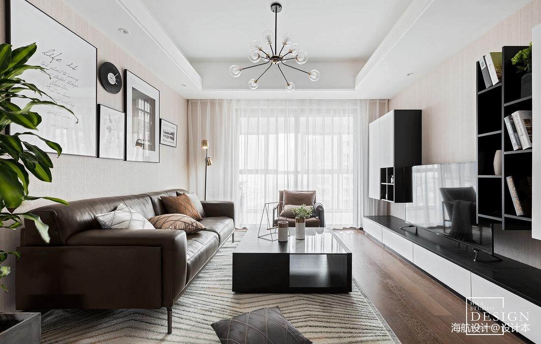 精美104平方三居客厅现代装修设计效果图片