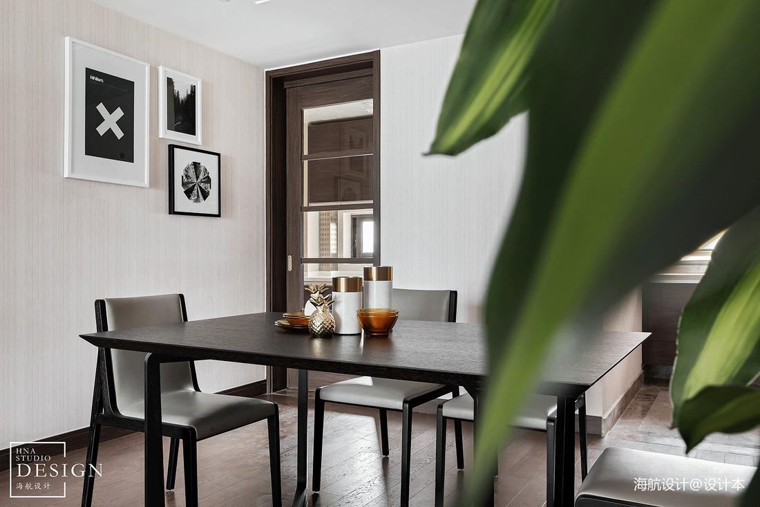 2018100平米三居餐厅现代实景图