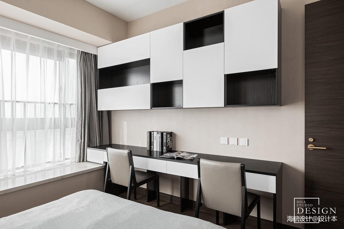142㎡现代卧室书柜设计图