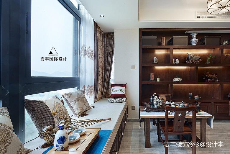 浪漫87平中式三居休闲区图片欣赏